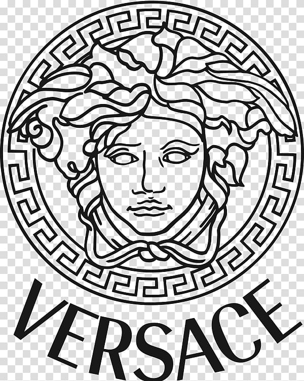 Versace logo illustration, Donatella Versace Brand Fashion.