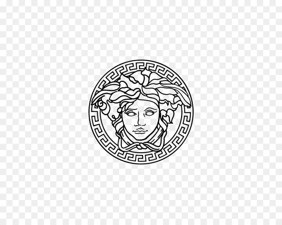 Versace Logo clipart.