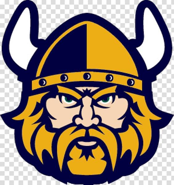 Minnesota Vikings logo, Viking Face Close Up transparent.