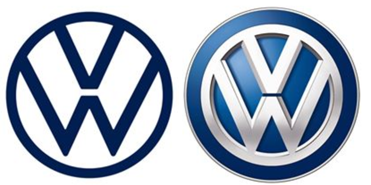 Volkswagen Changes Logo, Image to Make it Look \'Friendlier\'.