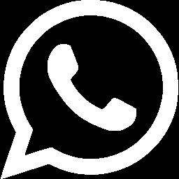 White whatsapp icon.