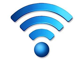 Amazon.com: Fancy Wireless Blue Bars Wifi Logo Window Decal.