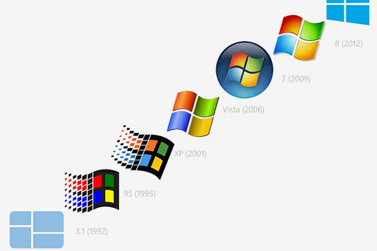 The Windows logo is evolving backwards.