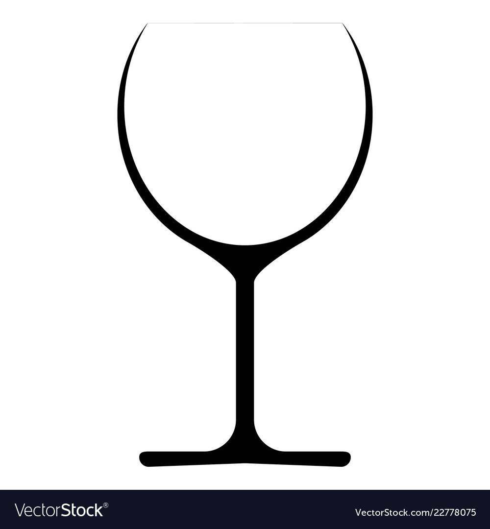 Wine glass icon symbol logo.