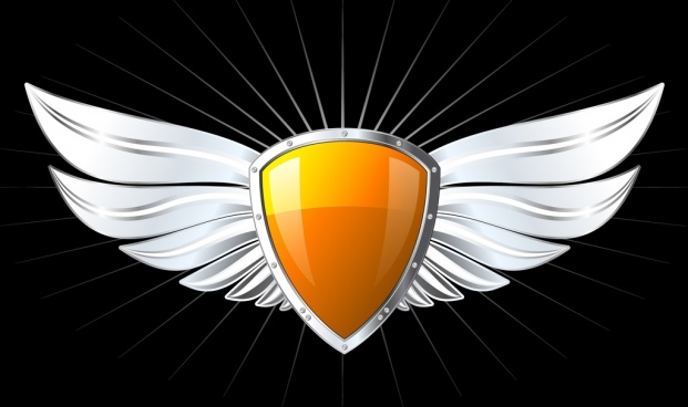 Logo wings shield free vector download (69,673 Free vector.