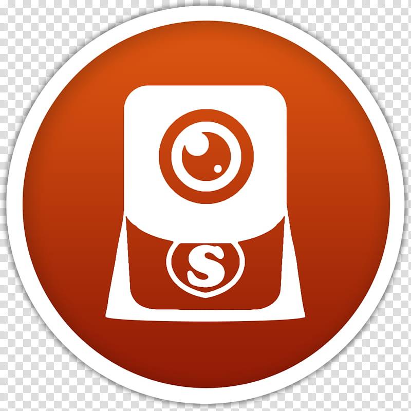 Dots, orange camera logo transparent background PNG clipart.