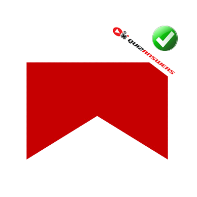 Red Box with White Triangle Logo.