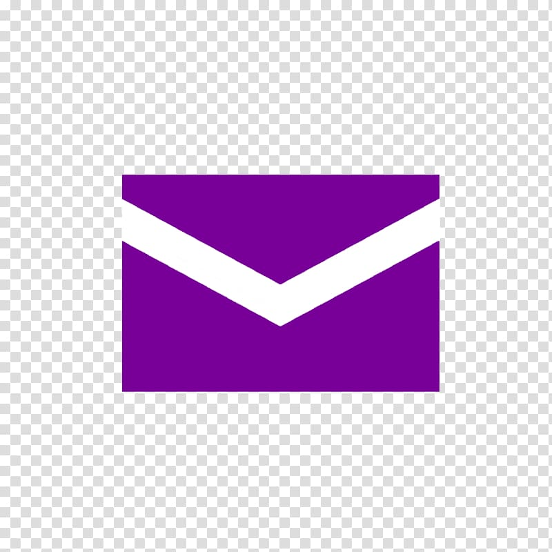 Yahoo! Mail Email Company Message, purple transparent.