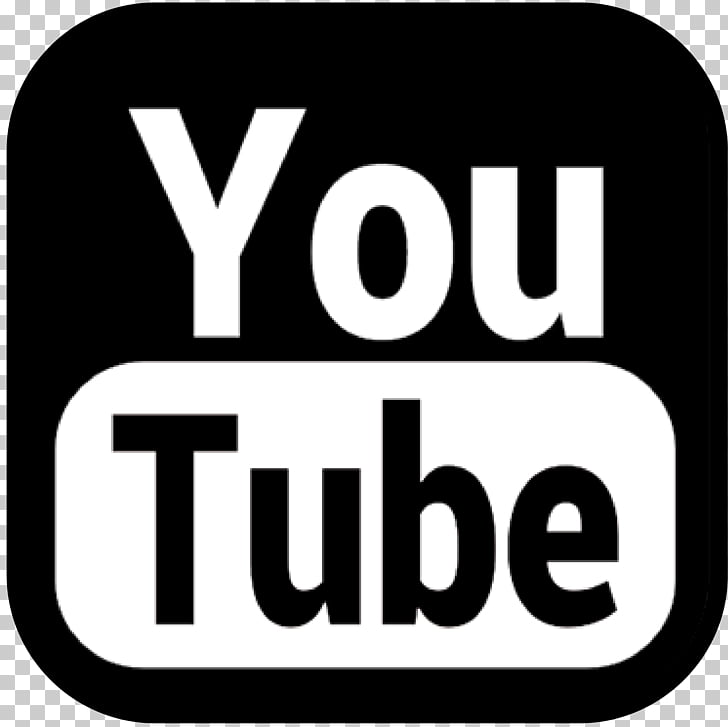 YouTube Film Logo Video, black and white PNG clipart.