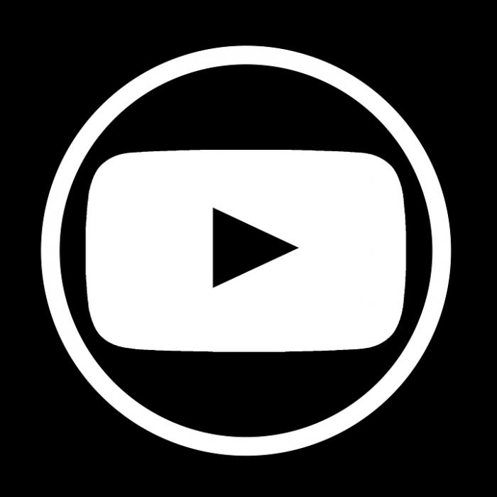 Youtube Logo Blanco Png Vector, Clipart, PSD.