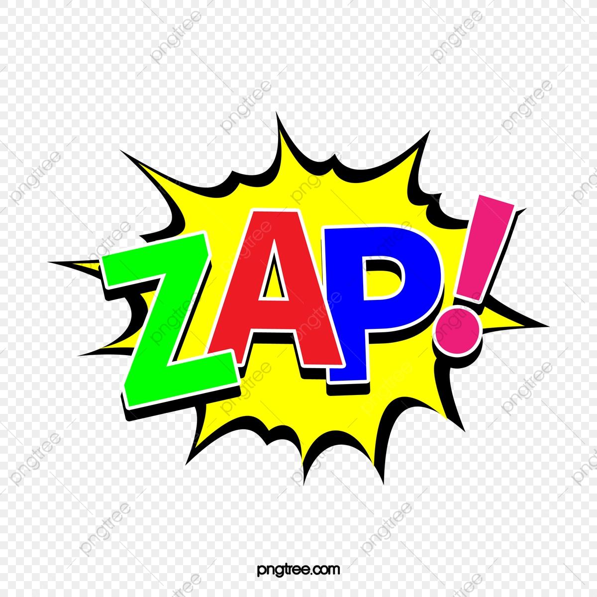 English Explosive Sticker For Color Zap, Cartoon.