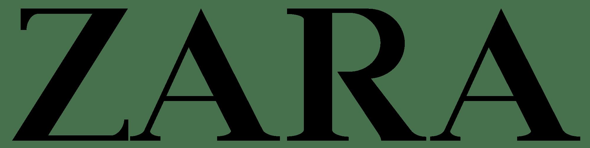 Zara Logo transparent PNG.
