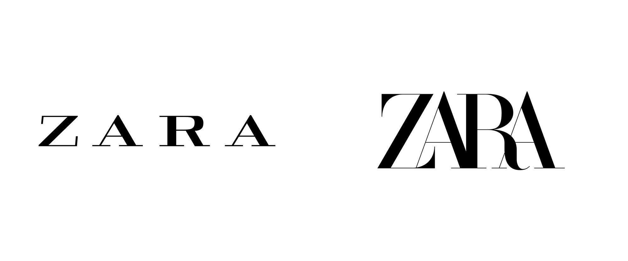 Brand New: New Logo for Zara by Baron & Baron.
