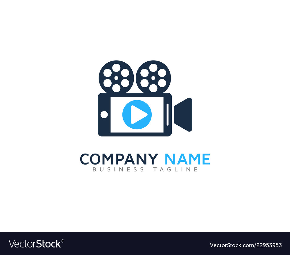 Mobile video logo icon design.