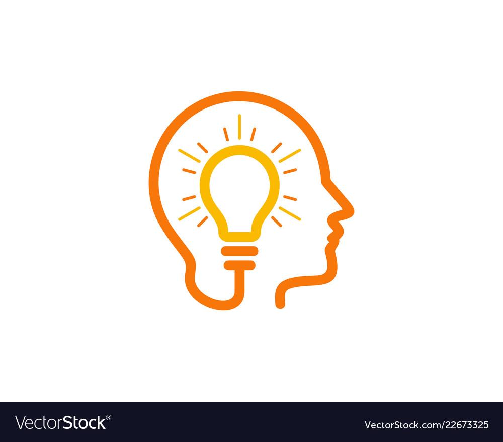 Brain idea logo icon design.