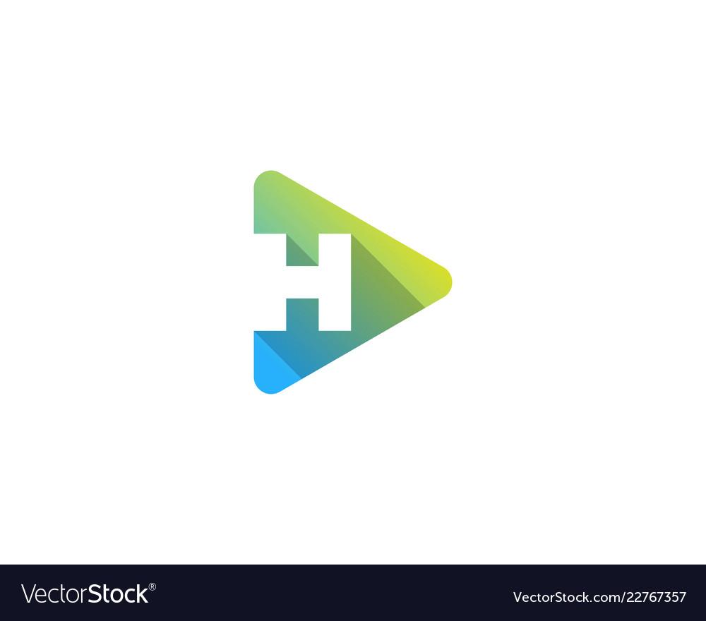 Media letter h logo icon design.