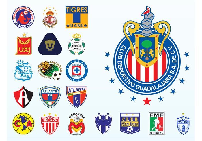Mexican Football Logos.