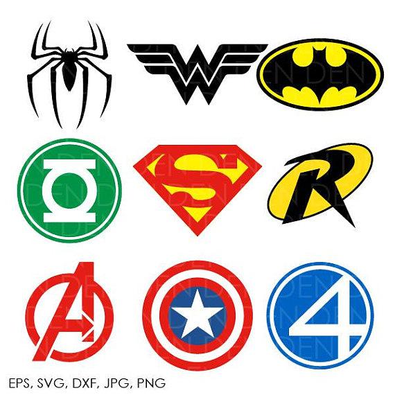 Superhero Logo Clipart.