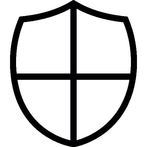 Shield little shape with a cross.