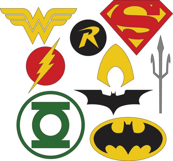 Logotipos de superhéroes de DC archivos SVG y DXF.
