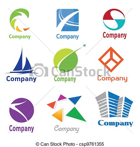 Clipart Vector of Logo Design Samples.