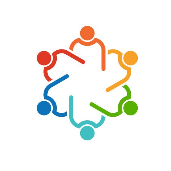 People agenda meeting logo clip art. Concept for a friendship.