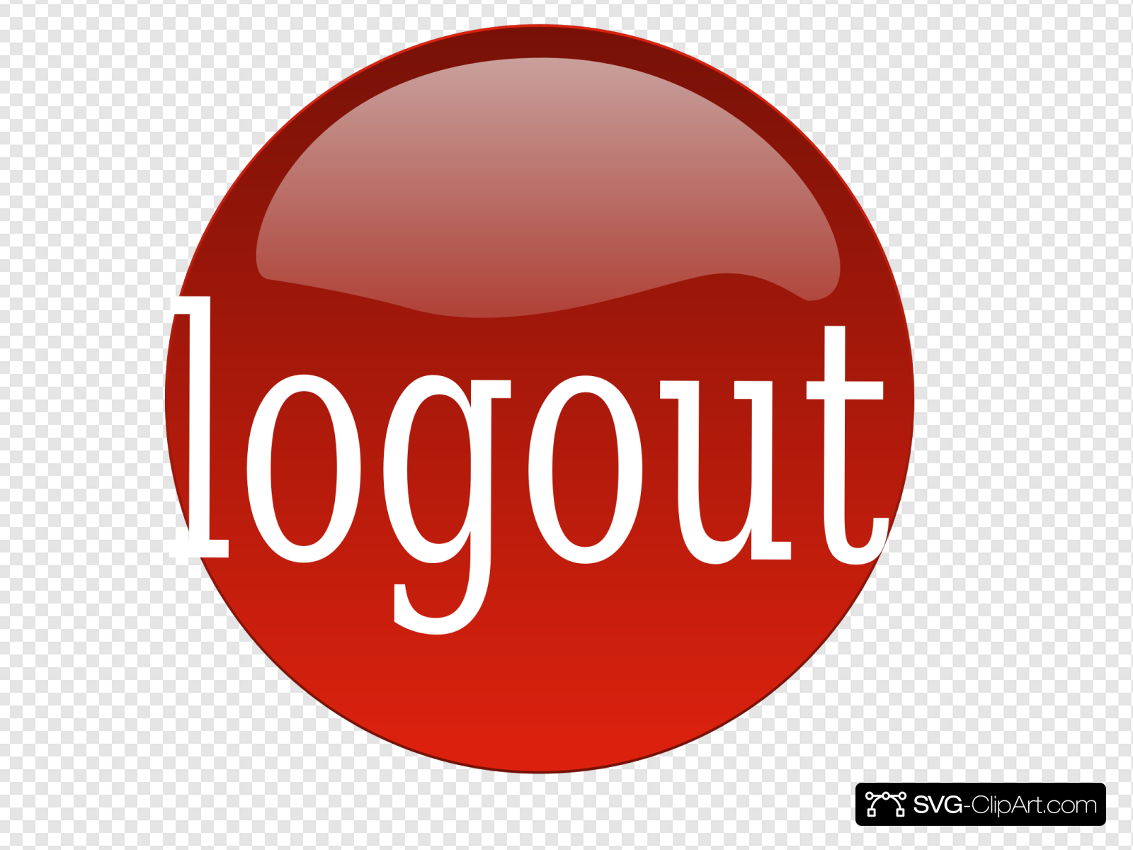 Red Logout Clip art, Icon and SVG.