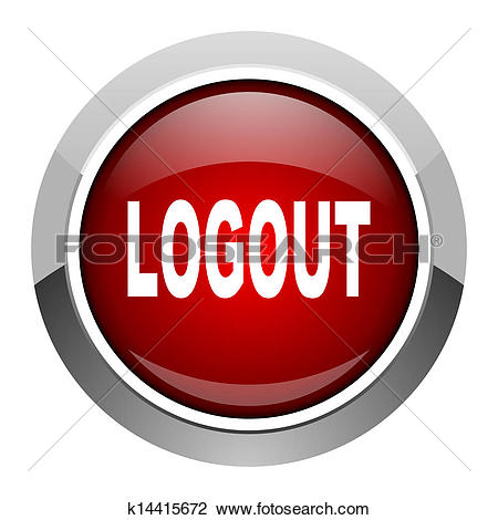 Clip Art of logout icon k10708312.
