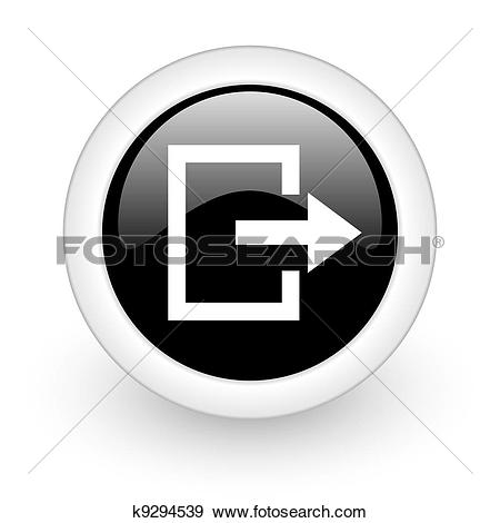 Stock Illustration of logout icon k9294539.