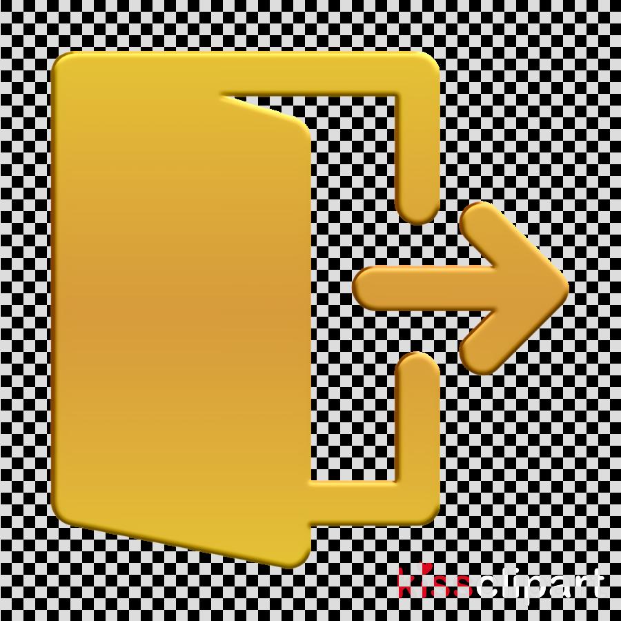 Logout icon Essentials icon clipart.