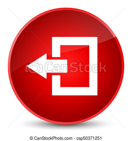 Logout icon elegant red round button.