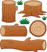 Logs Clip Art.