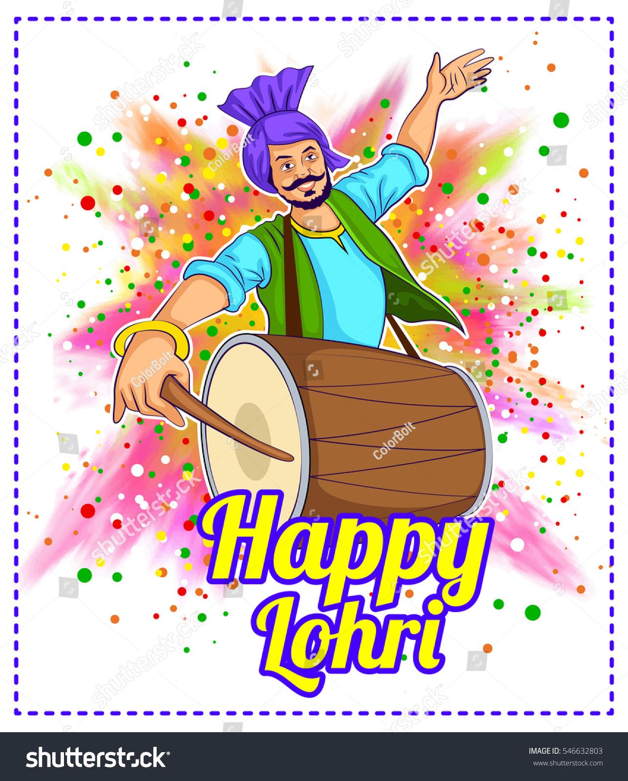 Happy Lohri Clipart.