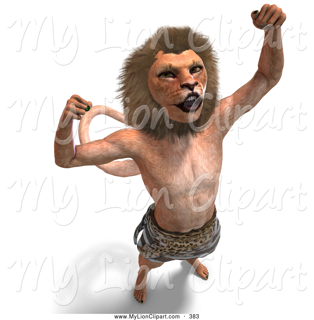 Royalty Free Cat Men Stock Lion Designs.