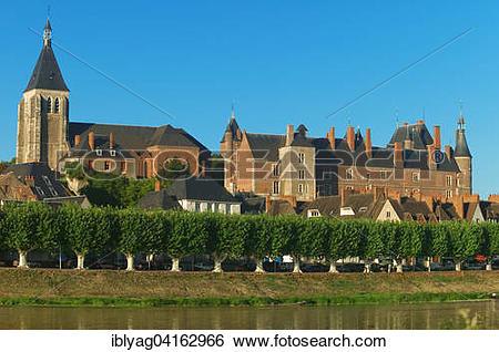 Stock Images of Chateau de Gien, Gien, Loiret, France, Europe.