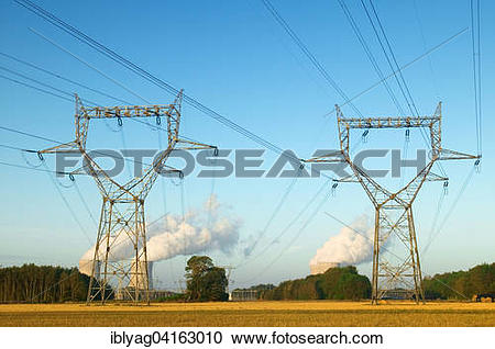Stock Photography of Dampierre nuclear power plant, Dampierre.
