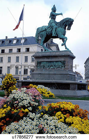 Picture of Orleans, Joan of Arc, France, Loire Valley, Loire.
