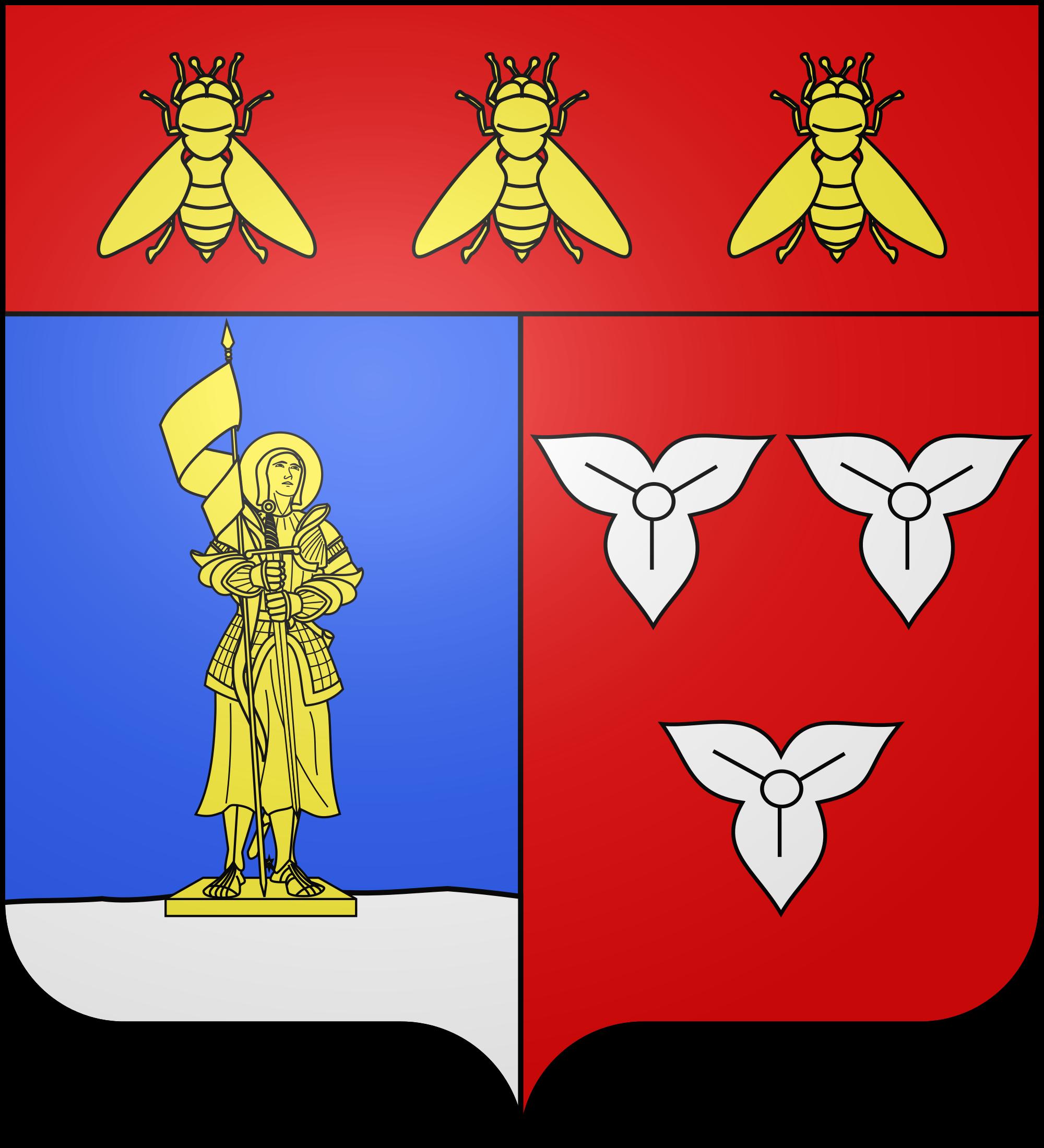 File:Blason ville fr Orléans Empire (Loiret).svg.