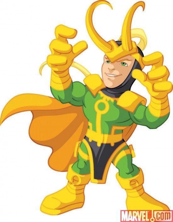 Marvel Super Hero Squad Loki.