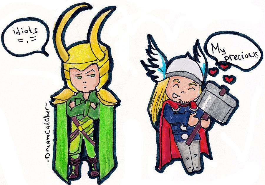Thor And Loki Clipart.