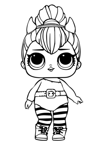 LOL Doll Spice coloring page.