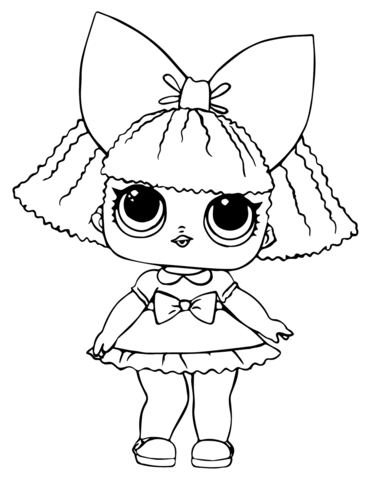 LOL Doll Glitter Queen coloring page.