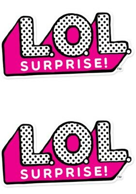 X 2 LOL Suprise Doll Logo Birthday Cup Cake Toppers Edible.