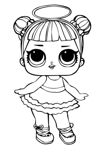 Lol dolls clipart black and white clipart images gallery for.