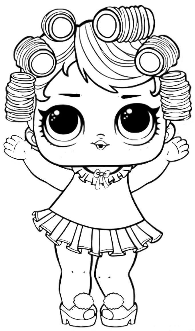 Lol Surprise Dolls Coloring Pages Black And White.