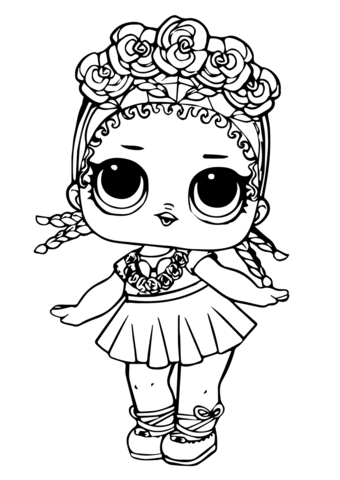 LOL Doll Coconut Q.T. coloring page.