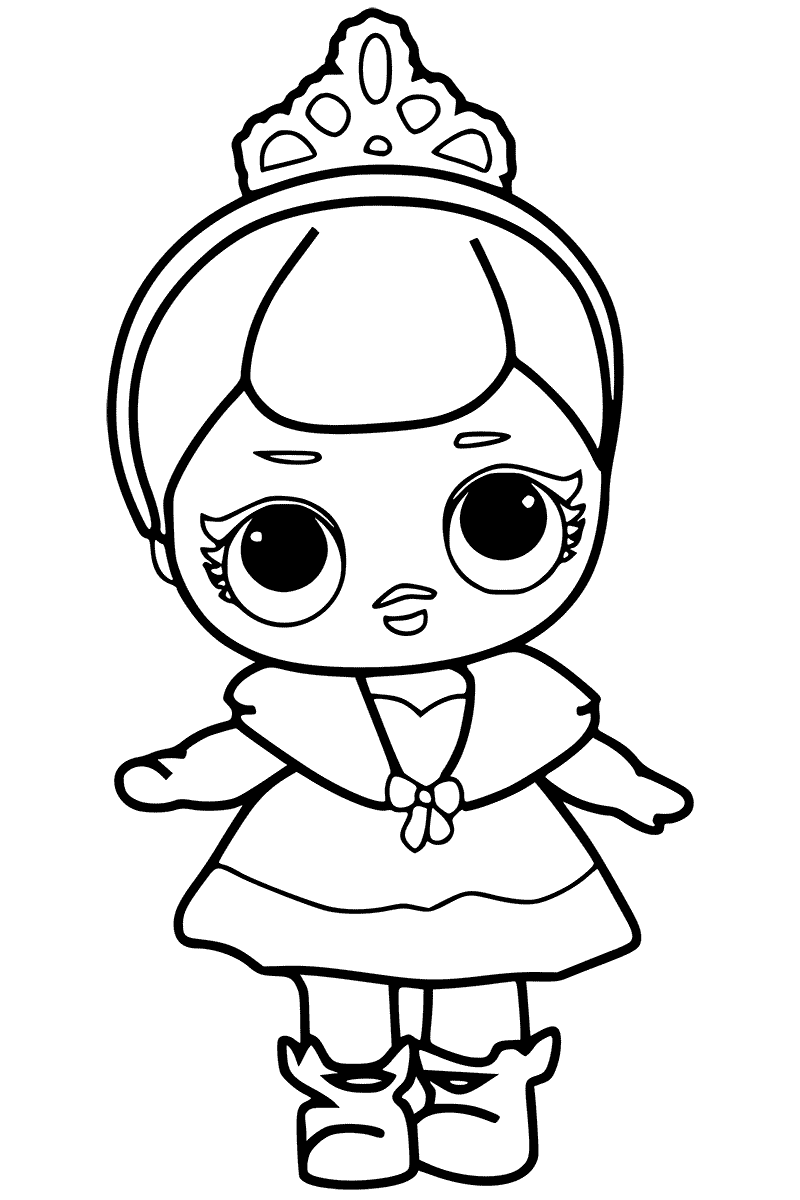 Lol Doll Coloring Pages Black And White.