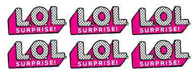 6 LOL Surprise Dolls LOGO Printed Self Adhesive Vinyl Sticker Decals  Waterproof.