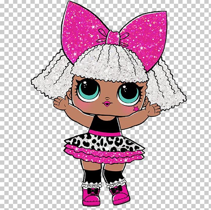 L.O.L Surprise! Glitter Series Doll Coloring Book Toy PNG.
