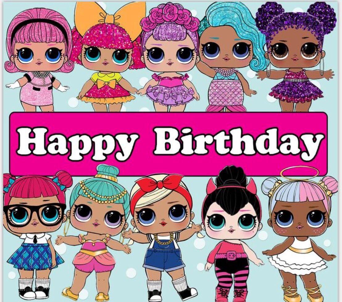 LOL Surprise Dolls Happy Birthday.